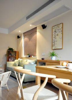 88平日式小清新美居东南亚客厅装修图片