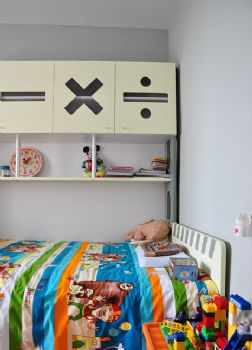 88平日式小清新美居东南亚儿童房装修图片