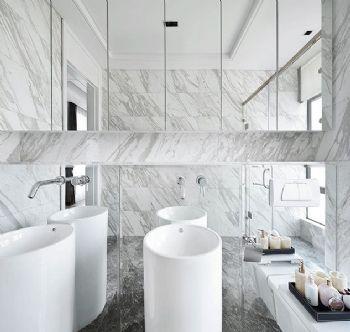 210平现代欧式大户型装修效果图现代卫生间装修图片