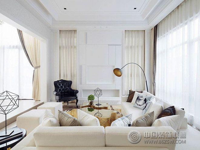 210平现代欧式大户型装修效果图-客厅装修图片