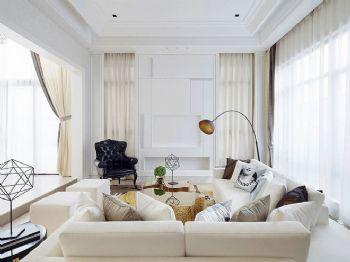 210平现代欧式大户型装修效果图现代客厅装修图片