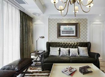 152平美式演绎贵气美居美式客厅装修图片