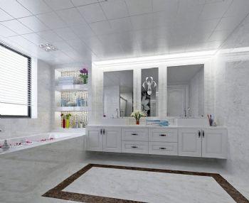 172平后现代简约大户型装修效果图现代卫生间装修图片