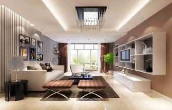 96平二居现代风装修图片现代客厅装修图片