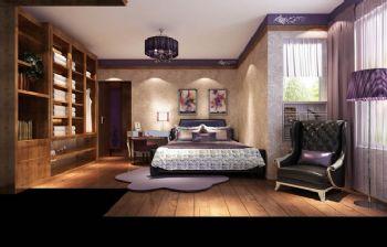 97平二居新中式风装修效果图中式卧室装修图片