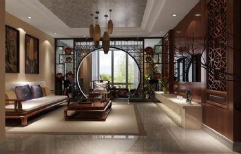 97平二居新中式风装修效果图中式客厅装修图片
