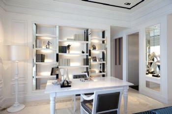 168平欧式风大户型装修案例书房装修图片