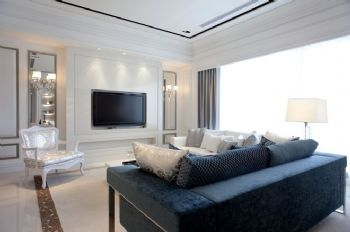 168平欧式风大户型装修案例客厅装修图片