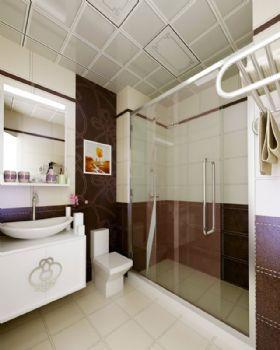 120平现代风大户型装修案例欣赏现代卫生间装修图片