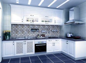 102平地中海现代风装修案例欣赏地中海厨房装修图片