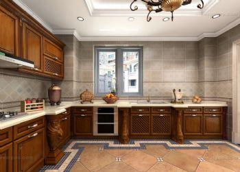 厨房墙砖铺贴设计方案古典厨房装修图片