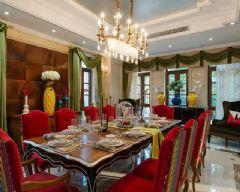 中金海棠湾别墅法式风格实景案例古典餐厅装修图片
