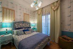 中金海棠湾别墅法式风格实景案例古典卧室装修图片