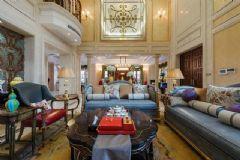中金海棠湾别墅法式风格实景案例古典客厅装修图片
