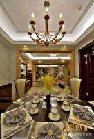 泛海国际城市里的优雅效果图混搭餐厅装修图片