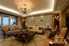 泛海国际城市里的优雅效果图混搭客厅装修图片