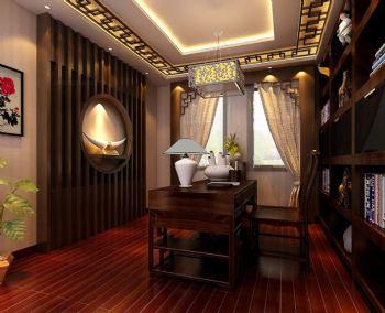 中式书房典雅设计中式书房装修图片