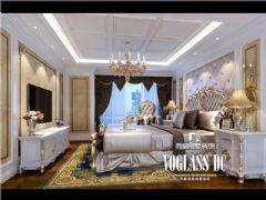 长城半岛城邦法式风格效果图美式卧室装修图片