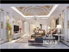 长城半岛城邦法式风格效果图美式客厅装修图片