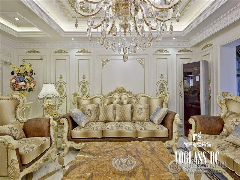 长城半岛城邦法式风格实景照片中式客厅装修图片