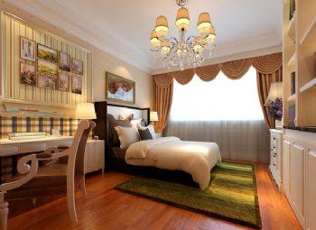 324平简欧风别墅案例欣赏简约卧室装修图片