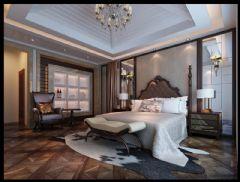 旭辉江湾墅联排别墅新古典主义风格设计案例古典卧室装修图片