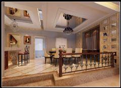 旭辉江湾墅联排别墅新古典主义风格设计案例古典餐厅装修图片
