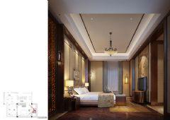木渎天逸弯别墅中式风格设计图中式卧室装修图片