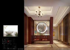 木渎天逸弯别墅中式风格设计图中式卫生间装修图片
