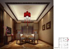 木渎天逸弯别墅中式风格设计图中式客厅装修图片
