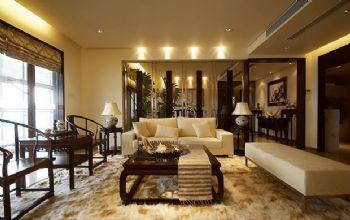 216平三居新中式风装修效果图中式客厅装修图片