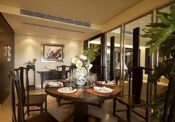 216平三居新中式风装修效果图中式餐厅装修图片