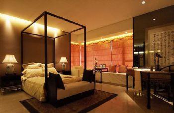 216平三居新中式风装修效果图中式卧室装修图片