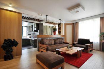 104平美式风大户型装修设计美式客厅装修图片