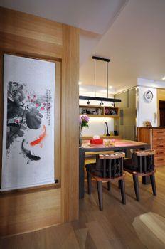 104平美式风大户型装修设计美式餐厅装修图片