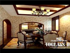 蔚蓝卡地亚豪宅美式风格设计图片美式餐厅装修图片