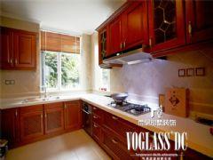 蔚蓝卡地亚美式风格案例美式厨房装修图片