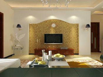 90平二居现代风装修效果图现代客厅装修图片