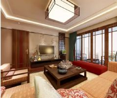 新中式风中式户型装修案例欣赏中式风格二居室