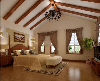 270平四居新古典风效果图古典卧室装修图片