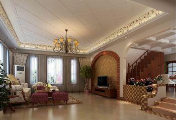 270平四居新古典风效果图古典客厅装修图片