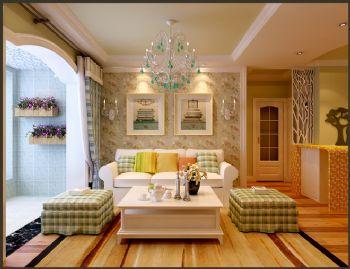 102平欧式风大户型打造美家欧式客厅装修图片
