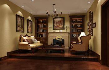 295平别墅欧式古典风设计图欧式书房装修图片