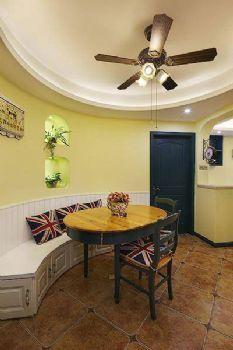 86平地中海风装修效果图欣赏地中海餐厅装修图片