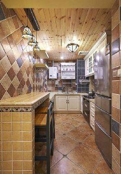 86平地中海风装修效果图欣赏地中海厨房装修图片