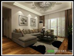 龙湖湾101平简约风三居室现代客厅装修图片