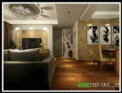 龙湖湾101平简约风三居室现代餐厅装修图片