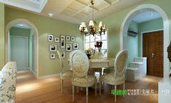 金浩仁和天地107平田园风格三居室装修案例田园餐厅装修图片