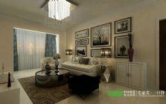 融汇锦江95平现代风格两居室装修案例现代客厅装修图片
