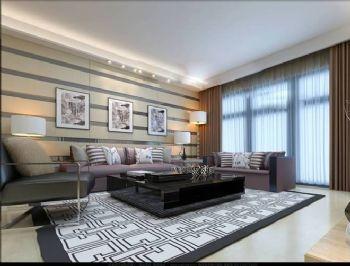 126平现代三居大户型效果图现代客厅装修图片